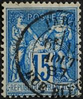 -Sage N°90 Type Ll  .O. ( CAD ) PARIS Rue Bleue.15 Aôut 1887. - 1876-1898 Sage (Type II)