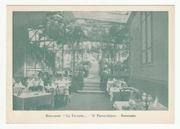 "SORRENTO - Ristorante  ""LA FAVORITA""  O PARRUCCHIANO - 2 Scans - 10 X 14 Cm - - Napoli (Naples)"