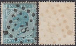 """Belgique - COB 18 Oblitération LP """"78"""" Chatelineau (DD) DC3158 - 1865-1866 Profile Left"""