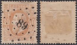 """Belgique - COB 33 Oblitération LP """"89"""" Couvin (DD) DC3161 - 1869-1883 Leopold II"""
