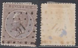 """Belgique - COB 19 Oblitération LP """"91"""" Couillet (DD) DC3163 - 1865-1866 Profile Left"""