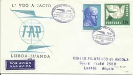 PORTUGAL, SOBRE PRIMER VUELO LISBOA/LUANDA - Cartas