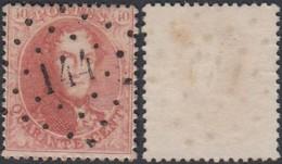 """Belgique - COB 16 Oblitération LP """"144"""" Gembloux (DD) DC3179 - 1863-1864 Médaillons (13/16)"""