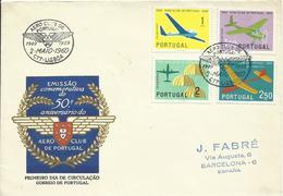 PORTUGAL, SOBRE PRIMER DIA DE CIRCULACION - Cartas