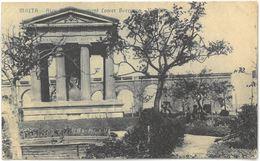 CPA MALTA - VALLETTA - Alex Ball Monument Lower Barracca - Malte