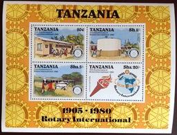 Tanzania 1980 Rotary Aircraft Aviation Minisheet MNH - Tanzania (1964-...)