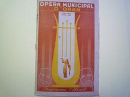 GP 2019 - 1099  OPERA Municipal D'ORAN  :  Programme Officiel  SAISON  1949 - 50  XXX - Programs