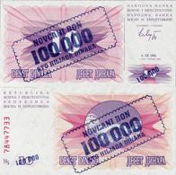 Bosnia And Herzegovina 1993 - 100000 Dinara - Pick 34 UNC - Bosnia And Herzegovina