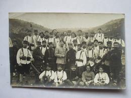 CARTE PHOTO -      GROUPE DE  MILITAIRES             TTB - Autres