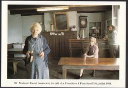 """56 - PONT-SCORFF - Madame Raoul, Tenancière Du Café """"La Frontière"""" - 1988 - Pont Scorff"""