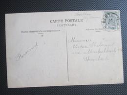 NR 81 - OP PK Expo Universelle Brux 1910 - Verstuurd Uit Berthem (sterstempel) - 1893-1907 Coat Of Arms