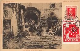 1937.- TARJETA DE MADRID A MADRID-SELLO ED. 691 + VIÑETA SOCORRO ROJO. - 1931-Today: 2nd Rep - ... Juan Carlos I