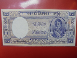 CHILI 5 PESOS 1958-59 PEU CIRCULER/NEUF - Chile
