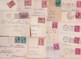 US MAIL XIXe OLD COVERS - LOT OF 70 STAMPED LETTERS UNTIL 1900 - USA STAMPS COVER - Briefe U. Dokumente