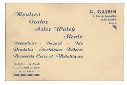 42 - SAINT ETIENNE -  Bijouterie - G. GALVIN  Rue Général Foy à Saint Etienne - Werbung