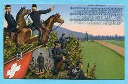 Karte Soldatenlieder Nr. 38 - Roulez, Tambours - Poste Militaire