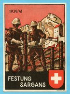Karte Festung Sargans 1939/41 Mit Passender Marke - Poste Militaire