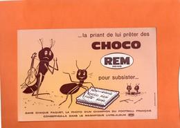 BUVARD. REIMS (MARNE). BISCUIT CHOCOLAT REM. FOURMI  Achat Immédiat - Cake & Candy