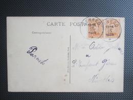 Nr 135 (paar)  - Albert I Op PK Uit Rebecq - 1915-1920 Albert I
