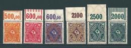 MiNr. 205-209 ** Oberrand - Unused Stamps