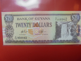 GUYANE 20$ 1996 PEU CIRCULER/NEUF - Guyana