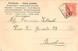 ED. Nº 243.- TARJETA POSTAL. MATASELLO CARTERÍA CALELLA - 1889-1931 Regno: Alfonso XIII