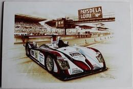 Carte Postale Voiture CP61 AUDI R8 2004 Course Auto Des 24 Heures Du Mans Illustrateur François Bruère - Le Mans