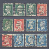 Año 1923 Nº 170/181 Tipo Pasteur - Usati