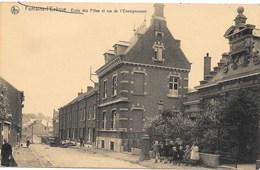 Fontaine-l'Evêque NA74: Ecole Des Filles Et Rue De L'Enseignement - Fontaine-l'Evêque