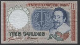 Netherlands 10 Gulden, 1953  -  5 LB 047140 - See The 2 Scans For Condition.(Originalscan ) - [2] 1815-… : Koninkrijk Der Verenigde Nederlanden