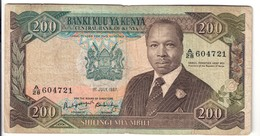 KENYA 200 SHILINGs 1987 LOTTO.2495 - Kenya