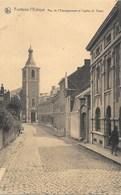Fontaine-l'Evêque NA78: Rue De L'Enseignement Et L'église St Vaast - Fontaine-l'Evêque
