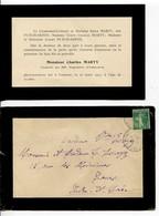 Faire-part De Décès De Charles Marty Cpl Au 99e Régiment D'infanterie Tué à L'ennemi Le 23 Mars 1917 - Obituary Notices