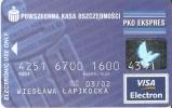 TARJETA DE CREDITO  DE POWSZECHNA KASA OSZCZEDNOSCI (VISA) - Phonecards