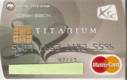 TARJETA DE BANCO DE TAILANDIA DE KRUNG THAI BANK (CREDITCARD-BANK-VISA) (CHIP-PUCE) - Phonecards