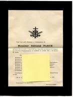 Faire-part De Décès De Edmond Place Fontenermont 1853-1917 - Obituary Notices