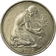 Monnaie, République Fédérale Allemande, 50 Pfennig, 1982, Hamburg, TTB - [ 6] 1949-1990 : GDR - German Dem. Rep.
