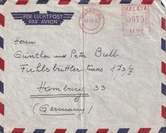 MALAYA 1955 PLI AERIEN DE SINGAPORE  EMA - Malayan Postal Union