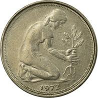 Monnaie, République Fédérale Allemande, 50 Pfennig, 1972, Stuttgart, TTB - [ 6] 1949-1990 : GDR - German Dem. Rep.