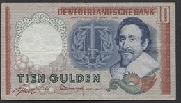 Netherlands 10 Gulden, 1953  -  4 TX 057881 - See The 2 Scans For Condition.(Originalscan ) - [2] 1815-… : Kingdom Of The Netherlands