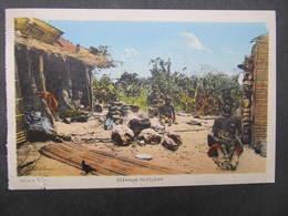 AK CONGO BELGE Menage Indigene Postally Used!  1930 // D*38188 - Belgisch-Kongo - Sonstige