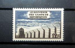 FRANCE 1955 N°1023 ** (LE SOUVENIR DES CAMPS DE DÉPORTATION. 12F BRUN-NOIR ET GRIS-BLEU) - Ungebraucht