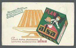 Buvard Flan Alsa Pour Votre Pâtisserie Levure Alsacienne Alsa - Food