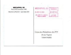EMA EXPO MECAPHIL 90 PARIS - Marcophilie (Lettres)