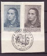 Tschechoslowakei / CSSR , 1950 , Mi.Nr. 620 , 621 O / Used  Auf Papier Ersttagsstempel - Gebraucht