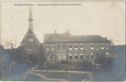 Fotokaart CPA St. - Denys - Westrem. Sint - Denijs - Westrem Pensionnat Des Soeurs De Vincent De Paul.1911. - Gent
