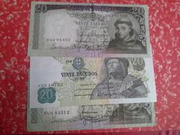 Lot 7 Bancnotes 20, 50, 100 Escudos - Portugal