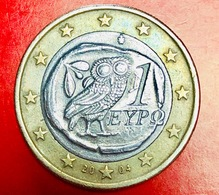 GRECIA - 2004 - Moneta - Civetta - Euro - 1.00 - Grecia