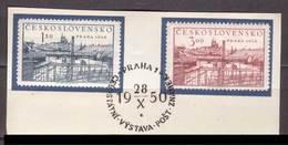 Tschechoslowakei / CSSR , 1950 , Mi.Nr. 638 , 639 O / Used  Auf Papier Ersttagsstempel - Gebraucht