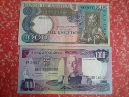 Lot 2   Bancnotes  1000, Escudos Angola Portuguesa - Portugal